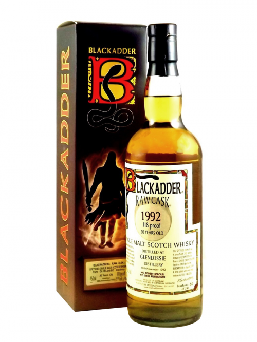 GLENLOSSIE 20 YEAR 1992 - 2012 RAW CASK  SINGLE MALT