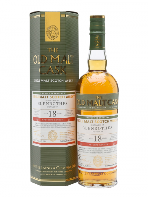 GLENROTHES 18 YEAR 1990 OLD MALT CASK SINGLE MALT