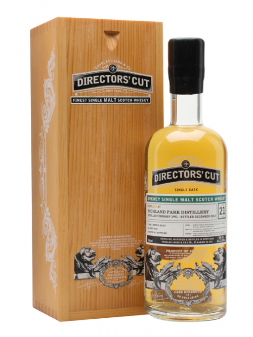 HIGHLAND PARK 21 YEAR 1991 DIRECTORS CUT SINGLE MALT