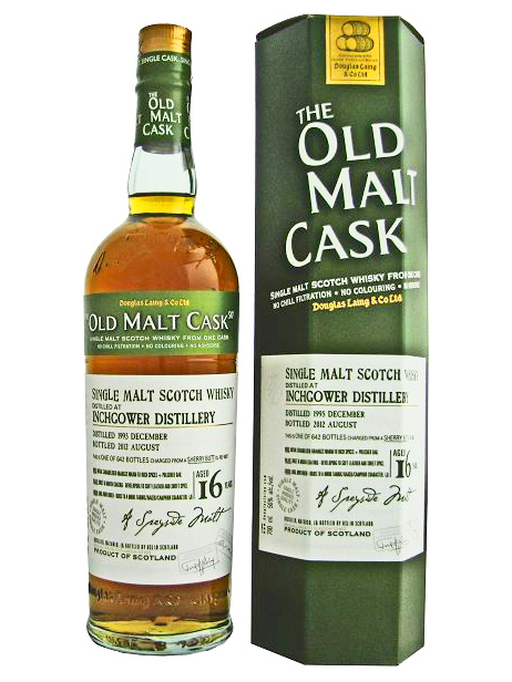 INCHGOWER 16 YEAR 1995 - 2011 OLD MALT CASK  SINGLE MALT