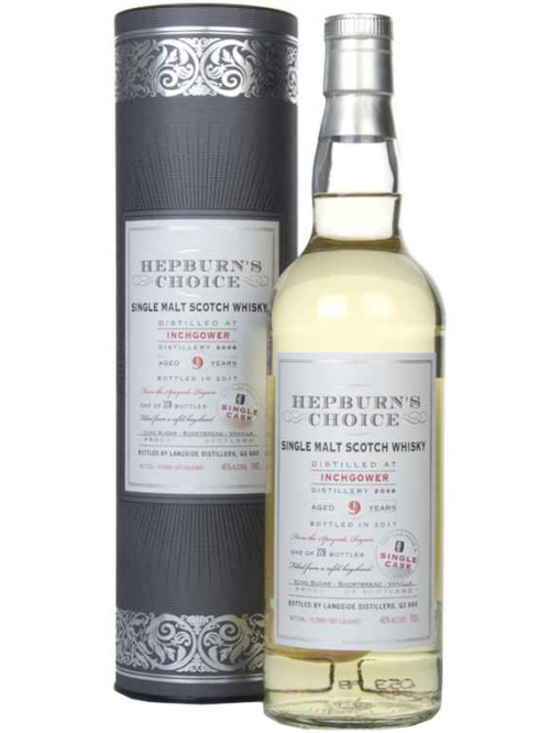 INCHGOWER 9 YEARS HEPBURN'S CHOICE single malt