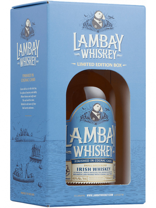 LAMBAY 4 YEARS SMALL BATCH FINISHED IN COGNAC CASK blend