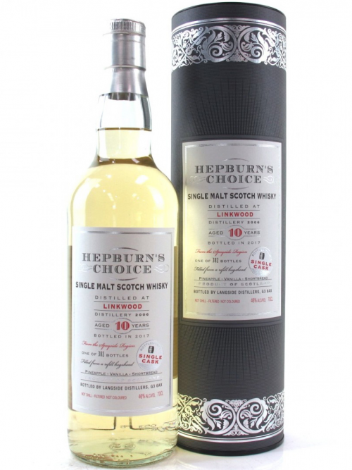 LINKWOOD 10 YEARS HEPBURN'S CHOICE single malt