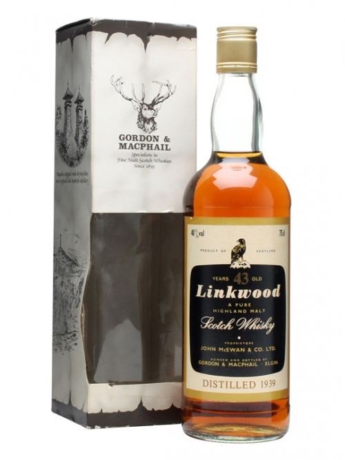 LINKWOOD 43 YEAR OLD 1939 GORDON & MACPHAIL