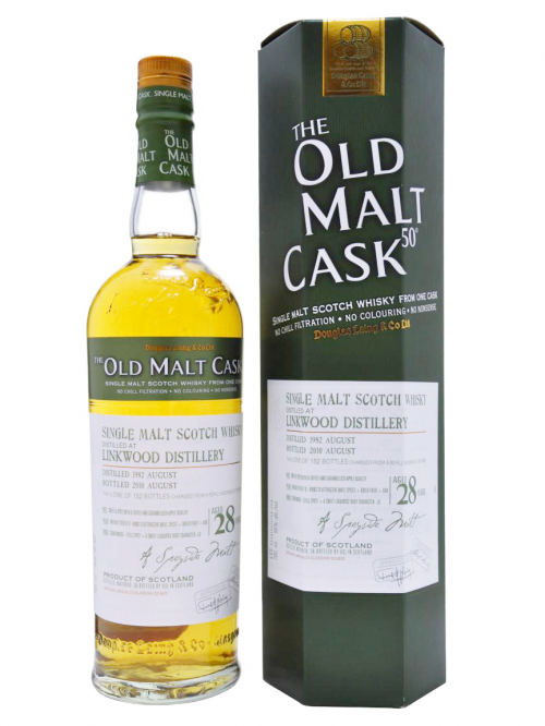 LINKWOOD 28 YEAR 1982 - 2010 OLD MALT CASK  SINGLE MALT