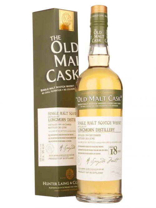 LONGMORN 18 YEAR 1994 - 2012 OLD MALT CASK  SINGLE MALT