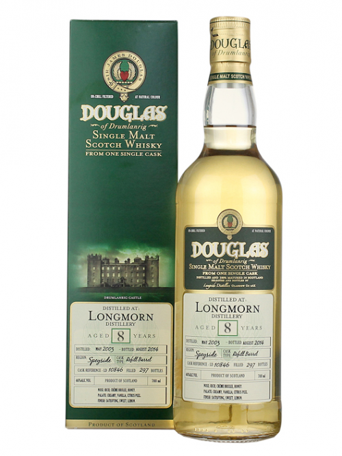 LONGMORN 8 YEAR 2003 - 2011 DOUGLAS OF DRUMLANRIG  SINGLE MALT