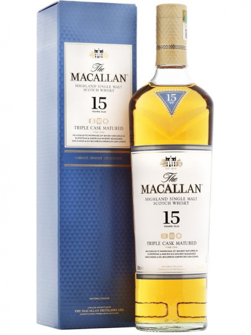 MACALLAN 15 YEARS TRIPLE CASK MATURED single malt