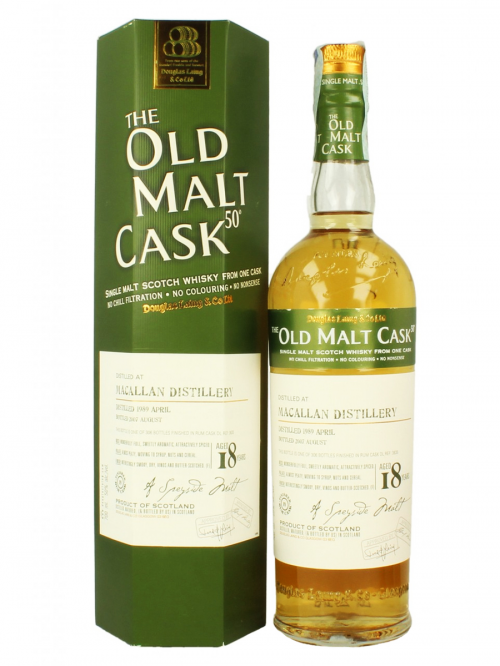 MACALLAN 18 YEAR 1989 - 2007 OLD MALT CASK  SINGLE MALT
