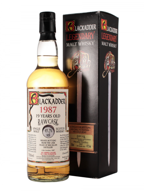 MACALLAN 19 YEARS 1987 BLACKADDER single malt