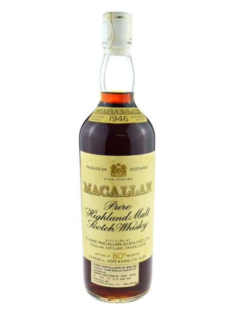 Macallan 1946 Pure Highland Malt Scotch Whisky
