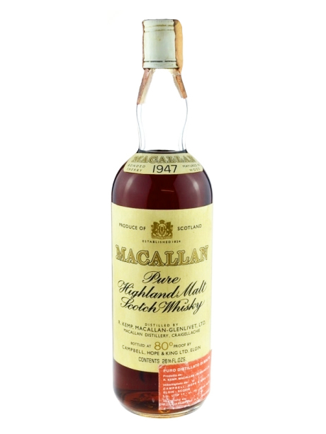 Macallan 1947 Pure Highland Malt Scotch Whisky