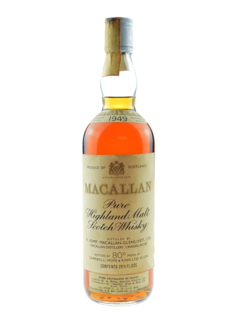 MACALLAN GLENLIVET 1949 CAMPBELL HOPE & KING single malt