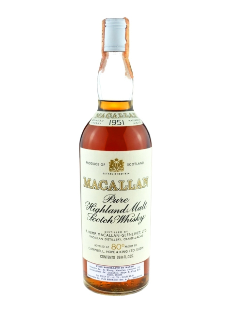 MACALLAN GLENLIVET 1951 CAMPBELL HOPE & KING single malt