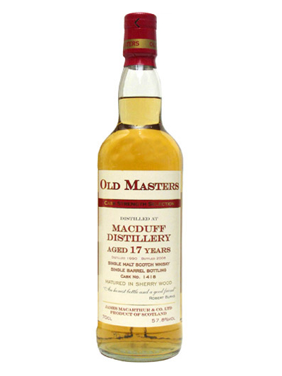 MACDUFF 17 YEARS 1990 OLD MASTERS single malt