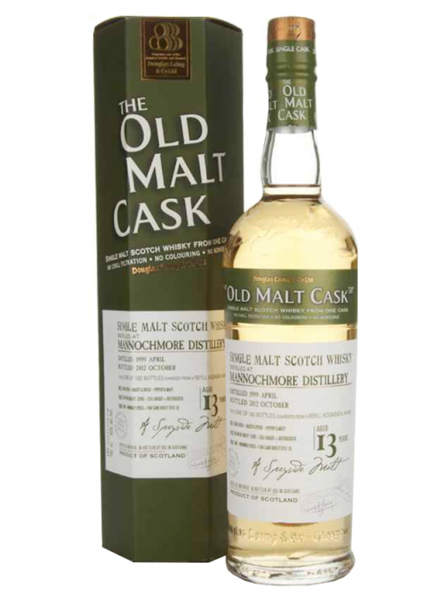 MANNOCHMORE 13 YEAR  1997 - 2010  OLD MALT CASK SINGLE MALT