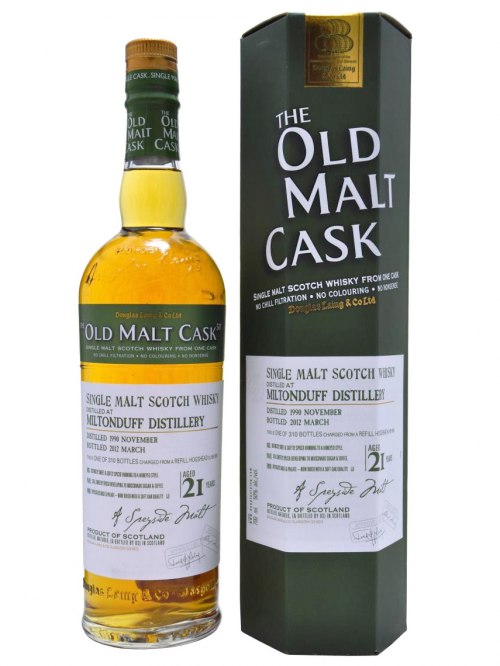MILTONDUFF 21 YEAR 1990 OLD MALT CASK SINGLE MALT