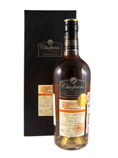 MILTONDUFF 22 YEAR 1989 - 2011 CHIEFTAINS  SINGLE MALT