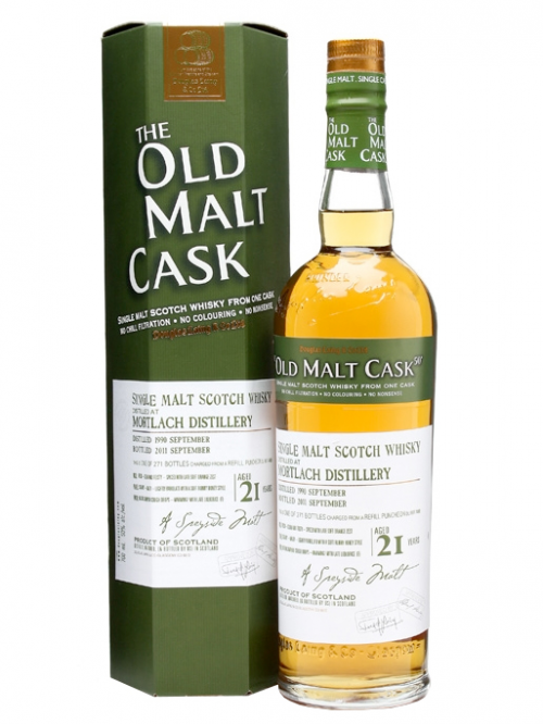 MORTLACH 21 YEAR  1990 - 2011 OLD MALT CASK SINGLE MALT