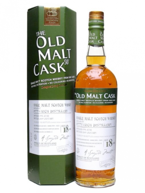 PITTYVAICH 18 YEAR 1990 - 2008 OLD MALT CASK  SINGLE MALT