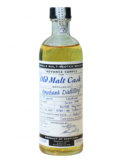 ROSEBANK 17 YEARS 1990 single malt