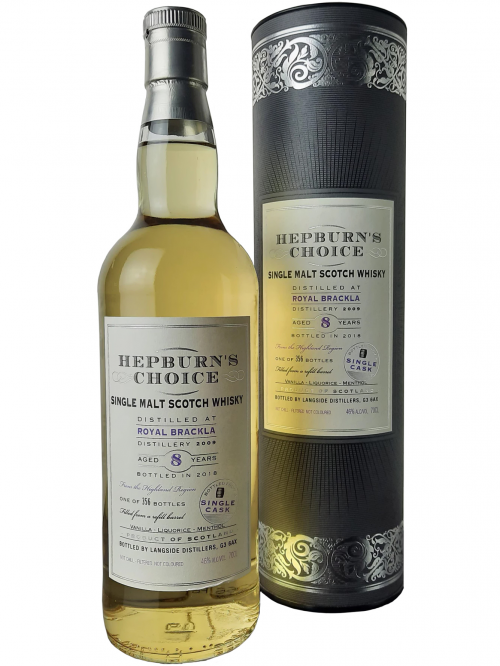 ROYAL BRACKLA 8 YEARS HEPBURN'S CHOICE single malt