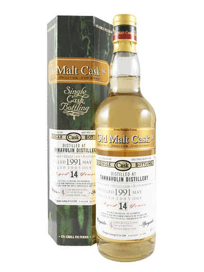 TAMNAVULIN 14 YEAR 1991 - 2005 OLD MALT CASK  SINGLE MALT