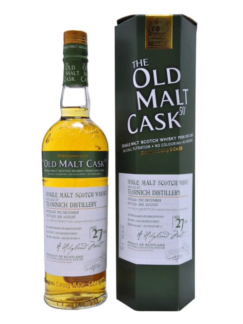 TEANINICH 27 YEAR 1982 - 2009 OLD MALT CASK  SINGLE MALT