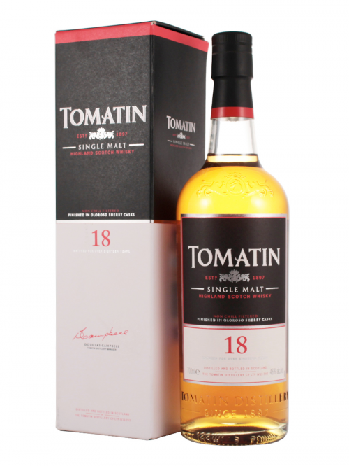 TOMATIN 18 YEAR  SINGLE MALT