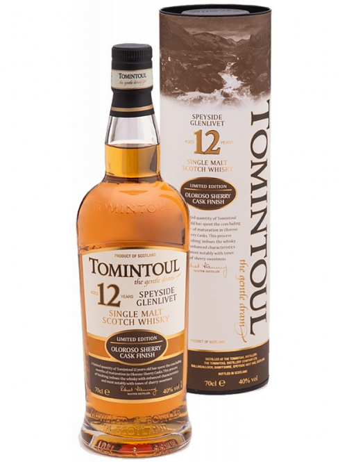 TOMINTOUL 12 YEARS OLOROSO SHERRY CASK FINISH single malt
