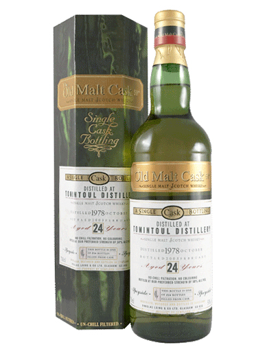 TOMINTOUL 24 YEAR 1978 OLD MALT CASK SINGLE MALT