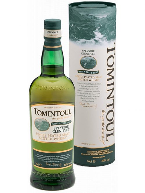 TOMINTOUL WITH A PEATY TANG single malt