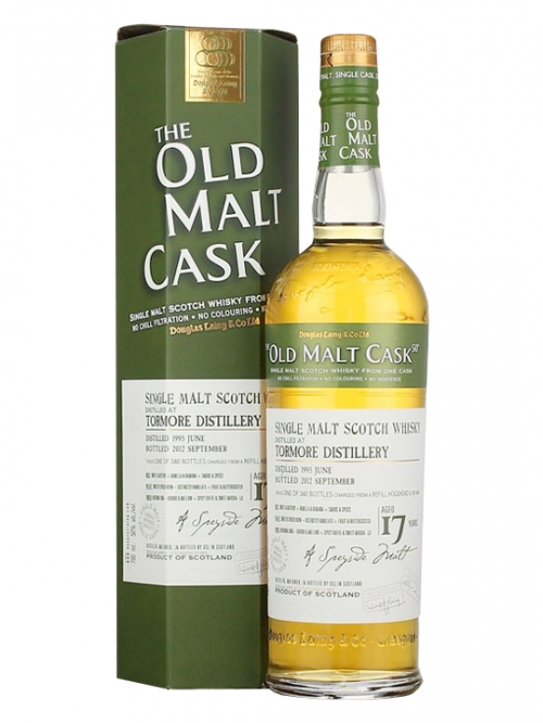 TORMORE 17 YEAR 1995 - 2012 OLD MALT CASK  SINGLE MALT