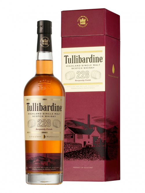 TULLIBARDINE 228 BURGUNDY FINISH single malt